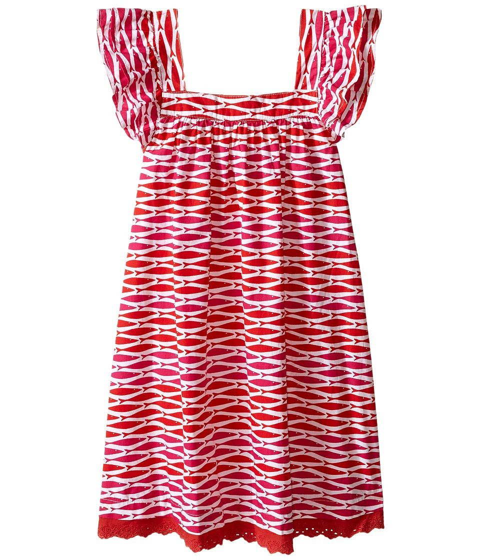 Hatley Kids - Little Fishes Flutter Sleeve Dress (Toddler/Little Kids/Big Kids) (Pink) Girl's Dress