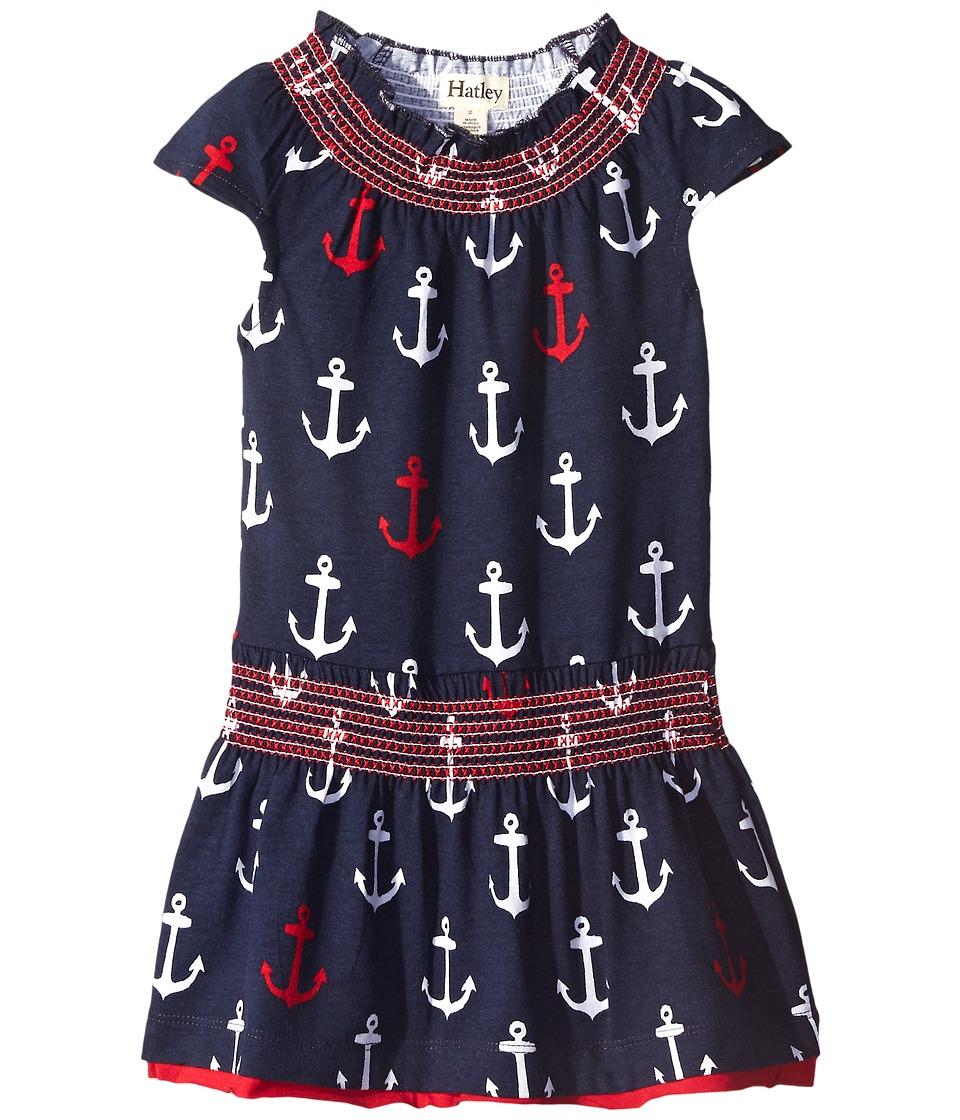 Hatley Kids - Anchor Smocked Dress (Toddler/Little Kids/Big Kids) (Blue) Girl's Dress