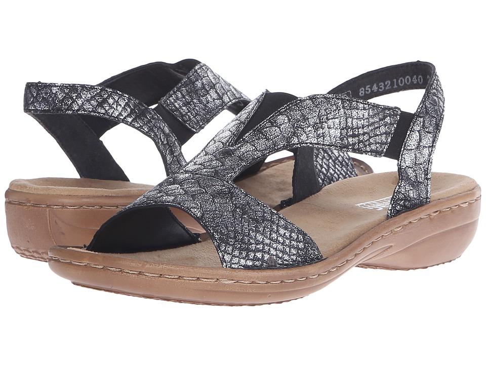 Rieker - 608B6 Regina B6 (Altsilber) Women's Sandals