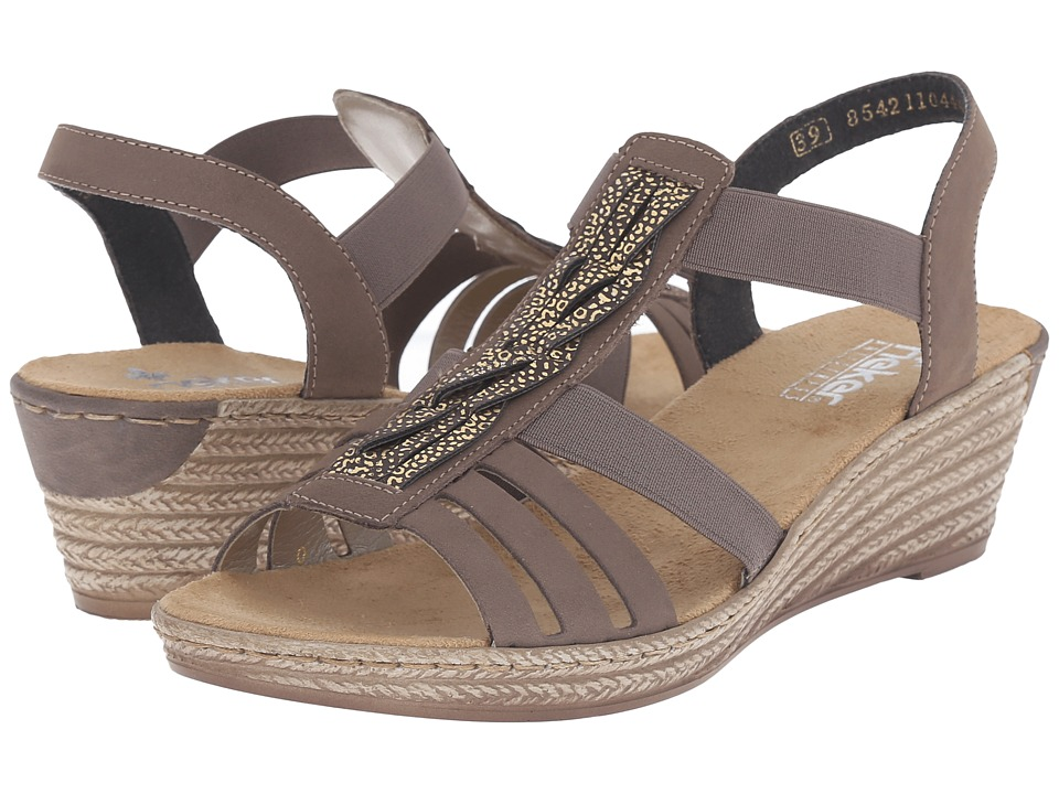 Rieker - 62479 Fanni 79 (Mineral/Moro Gold) Women's Wedge Shoes