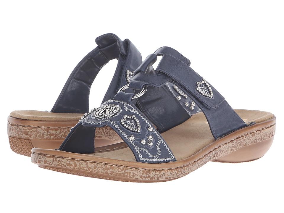 Rieker - 62834 Regina 34 (Jeans) Women's Sandals