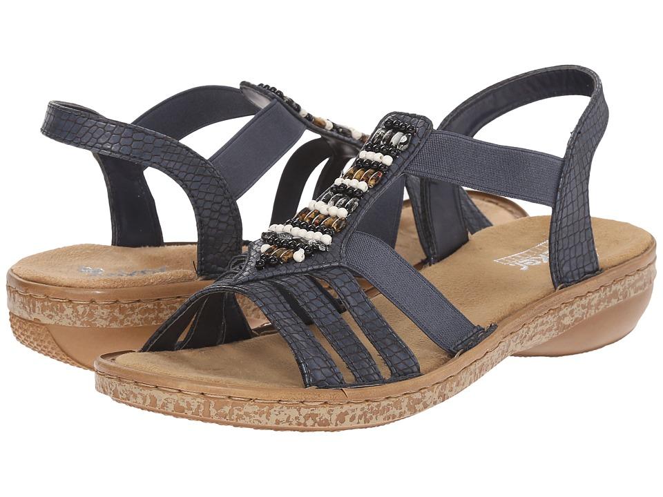 Rieker - 62851 Regina 51 (Ozean) Women's Sandals