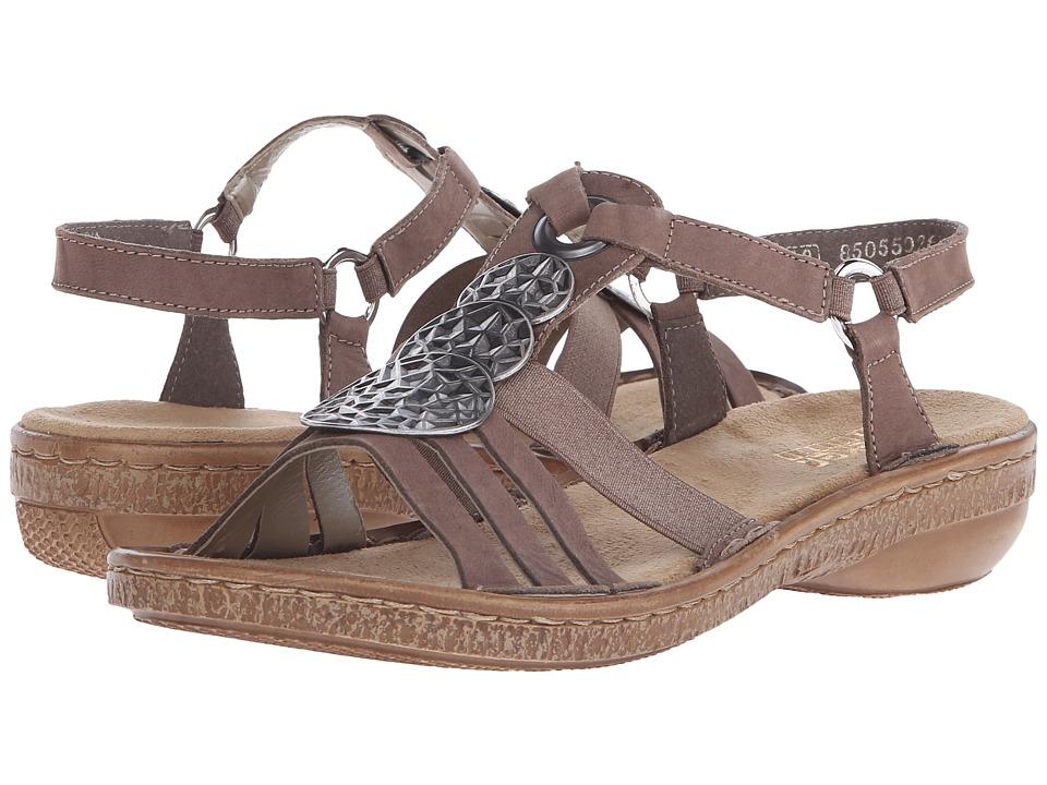Rieker - 62852 Regina 52 (Leinen) Women's Sandals