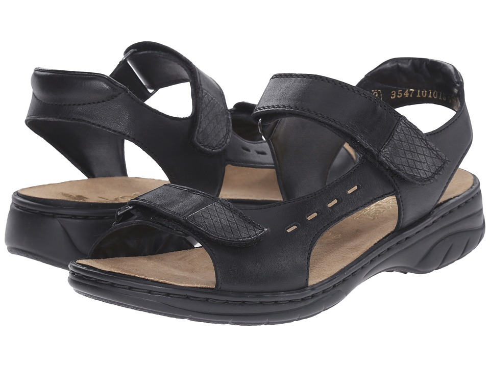 Rieker - 64569 Annett 69 (Black/Granit) Women's Sandals
