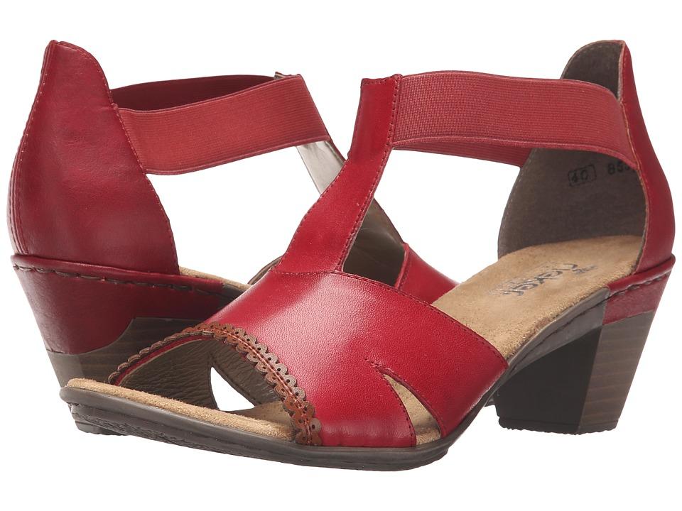 Rieker - 67388 Aileen 88 (Rosso/Nuss/Rosso) Women's 1-2 inch heel Shoes