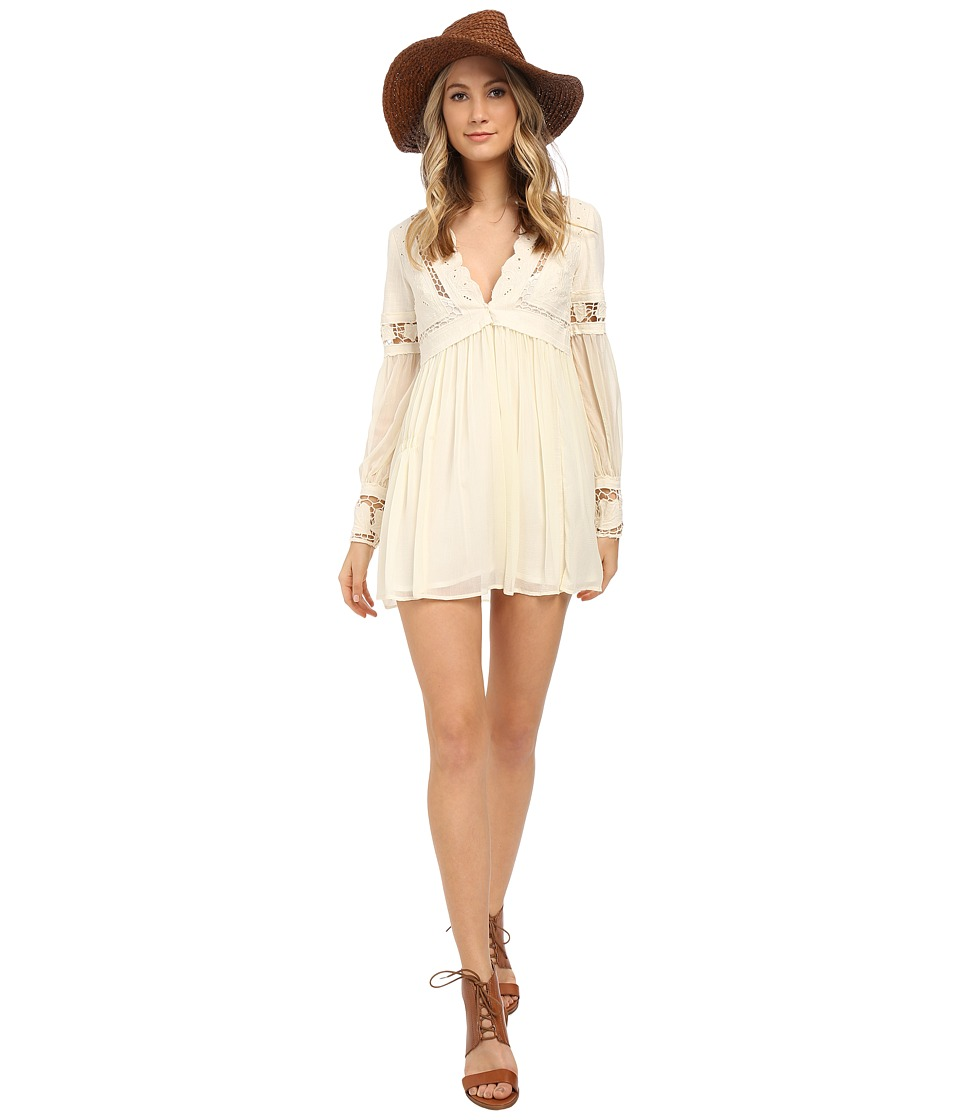 Free People - In Dreamland Mini Dress (Ivory) Women's Dress