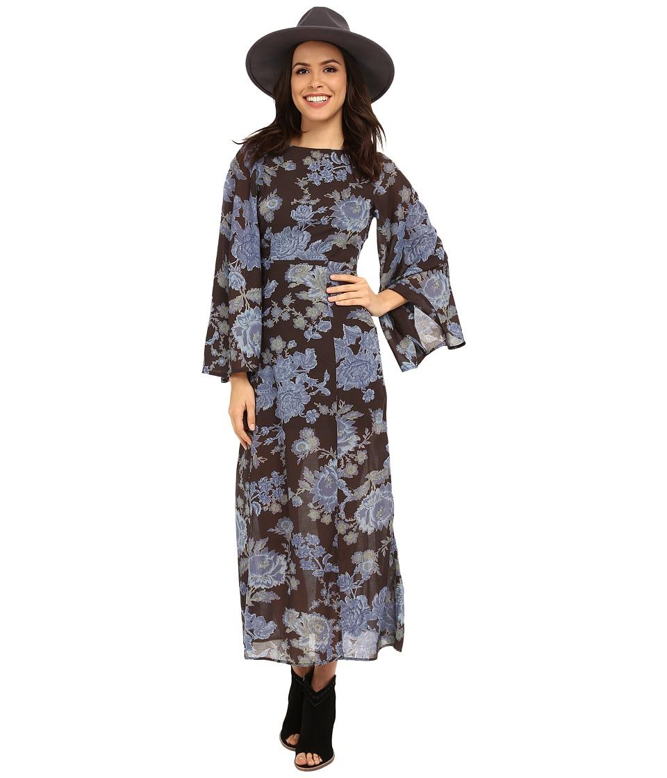 Free People - Melrose Printed Dress (Night Combo) Women's Dress