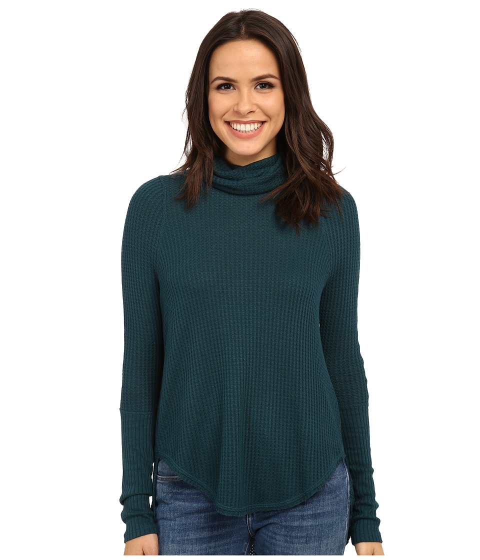 Free People - Kristina Thermal (Jade) Women's Long Sleeve Pullover