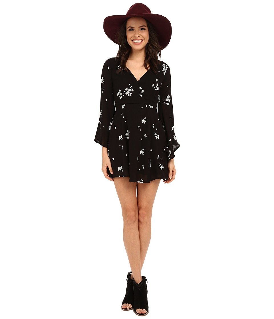 Free People - Jasmine Embroidered Dress (Storm Combo) Women's Dress