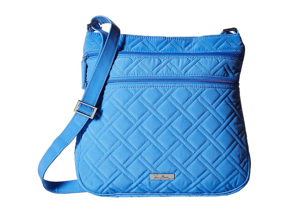 Vera Bradley - Triple Zip Hipster (Coastal Blue) Cross Body Handbags