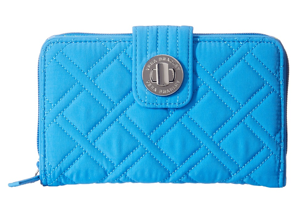 Vera Bradley - Turnlock Wallet (Coastal Blue) Bill-fold Wallet