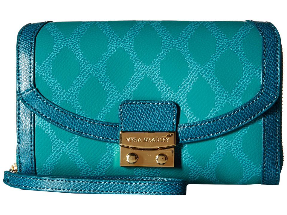 Vera Bradley - Ultimate Wristlet (Ikat Diamonds Teal) Clutch Handbags
