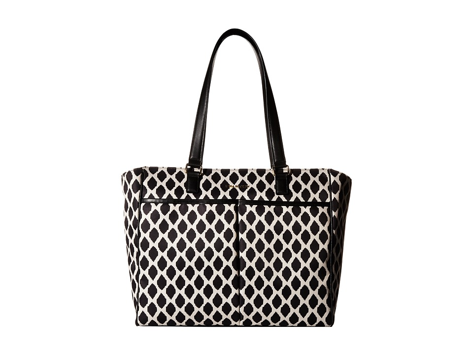 Vera Bradley - Uptown Baby Bag (Ikat Spots Black) Diaper Bags