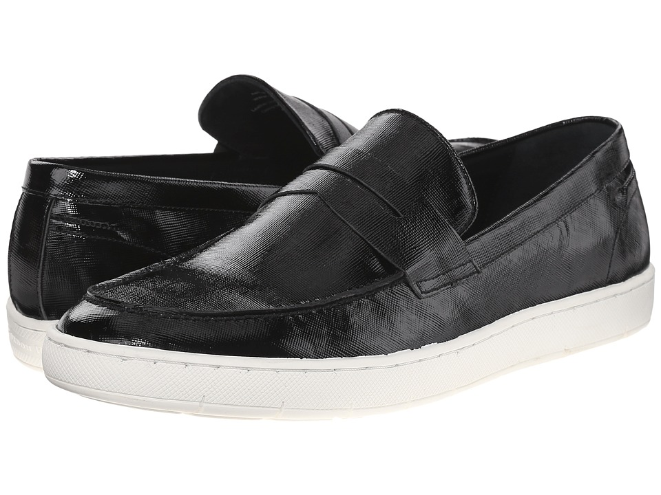 Gordon Rush - Ashby (Black Patent Saffiano) Men's Slip on Shoes