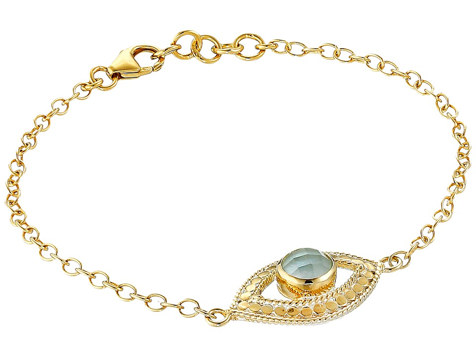 Anna Beck - Third Eye Green Amethyst Chain Bracelet (Sterling Silver/18K Gold Vermeil) Bracelet