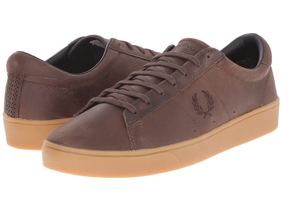 Fred Perry - Spencer Waxed Leather (Dark Chocolate) Men's Lace up casual Shoes