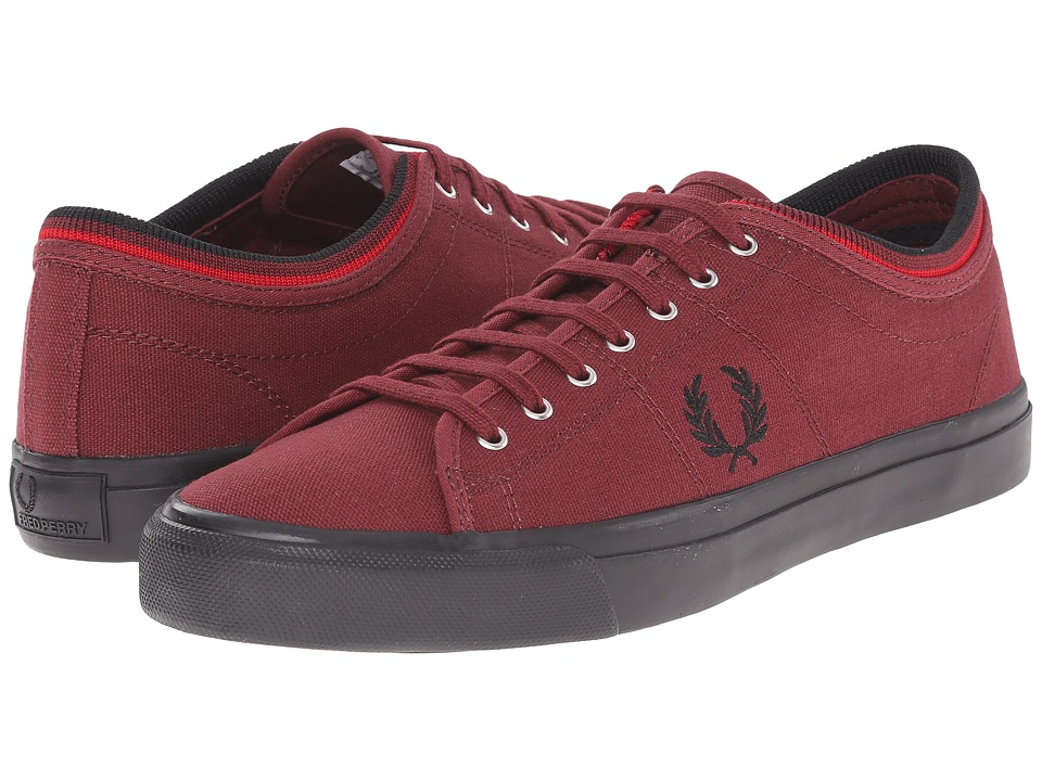 Fred Perry - Kendrick Tipped Cuff Canvas (Port) Men