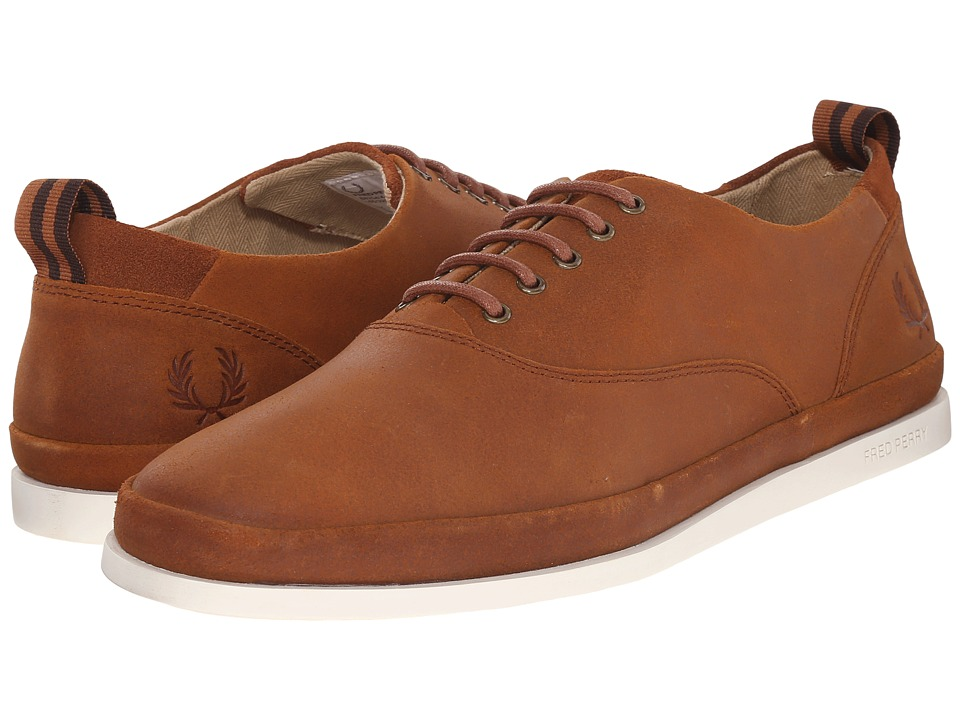 Fred Perry - Lawson Leather (Tan) Men's Lace up casual Shoes