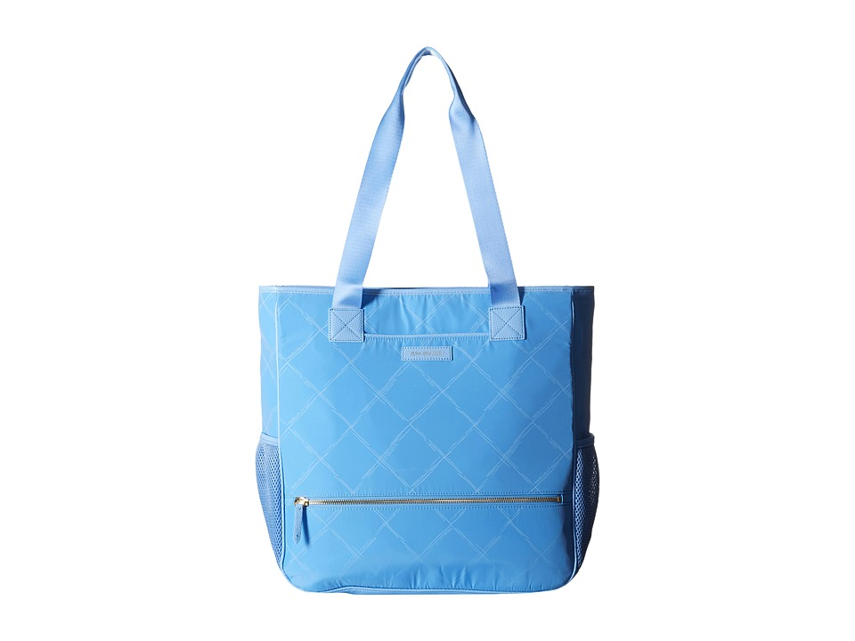 Vera Bradley - Preppy Poly NoSo Tote (Sky Blue) Satchel Handbags