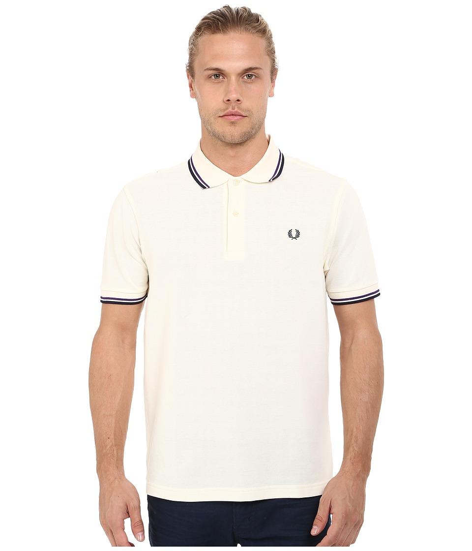 Fred Perry - Twin Tipped Fred Perry Polo (Ecru) Men's Short Sleeve Pullover
