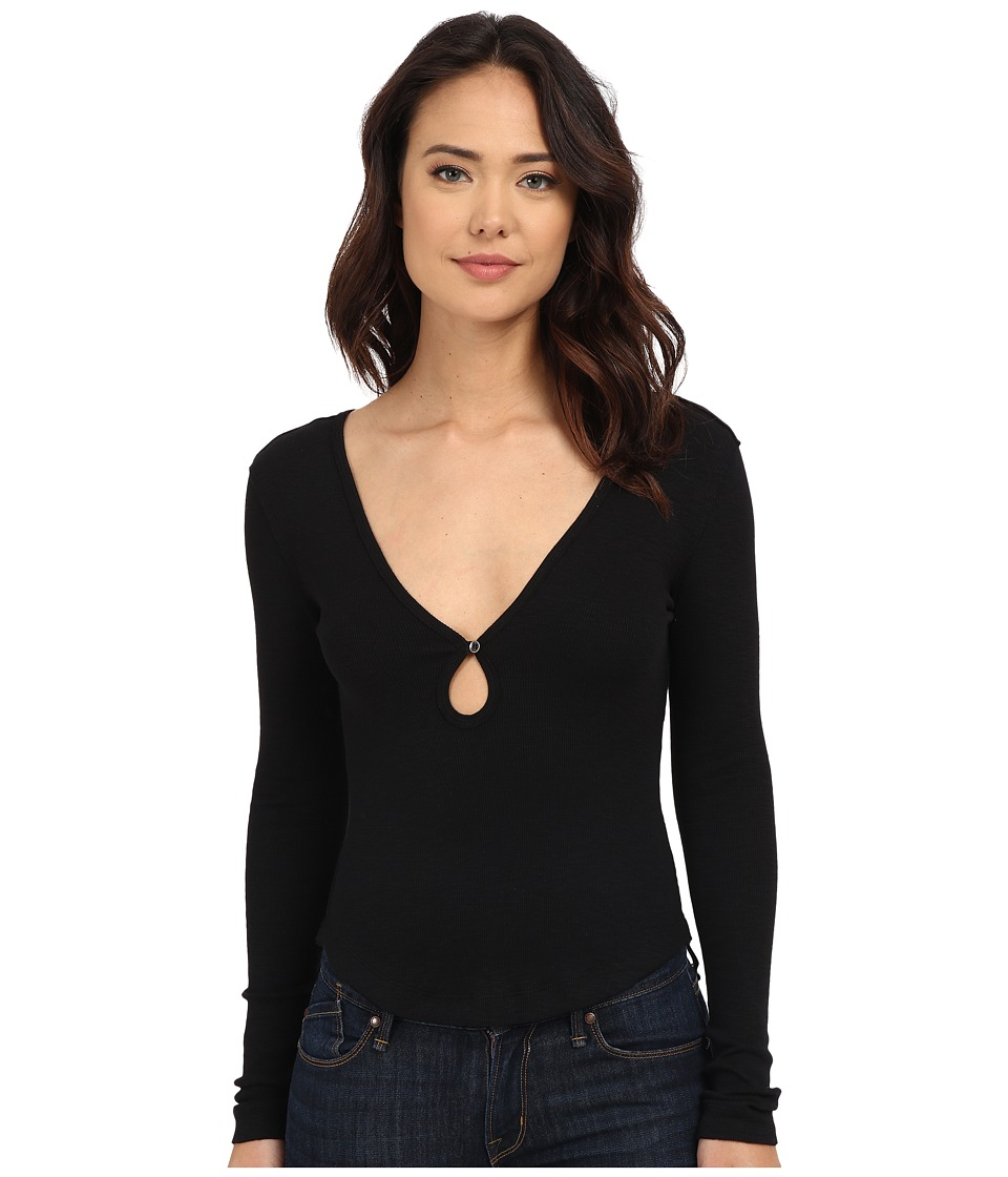 Free People - Tate's Layering Top (Black) Women's Long Sleeve Pullover
