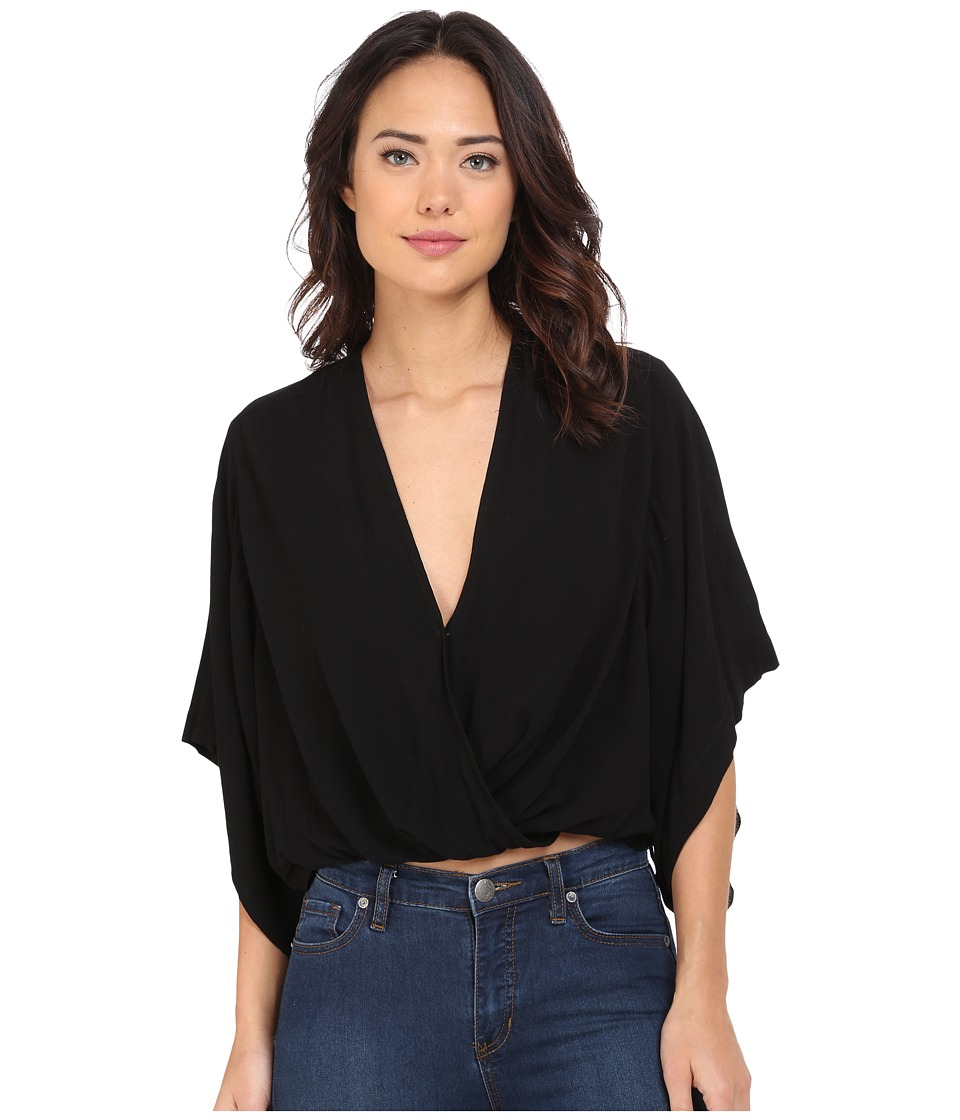 Free People - Sleepy Time Solid Kimono (Black) Women's Robe