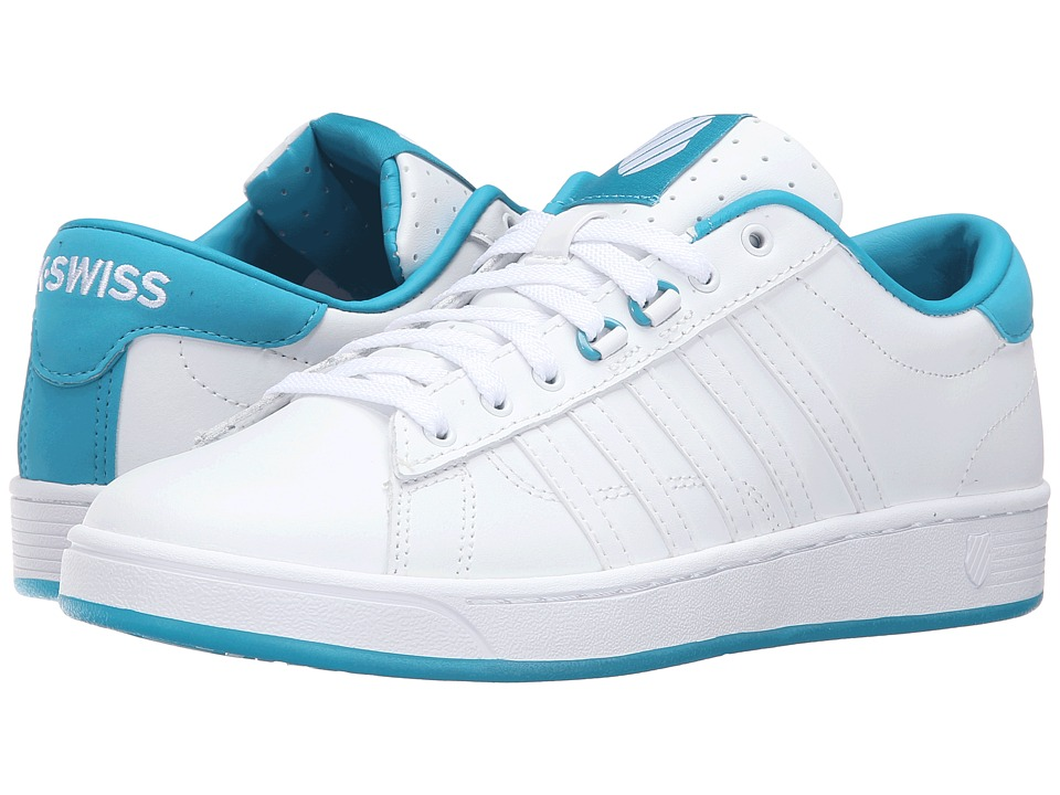 K-Swiss - Hoke CMF Ice (White/Capri Breeze/Ice Leather) Women's Tennis Shoes