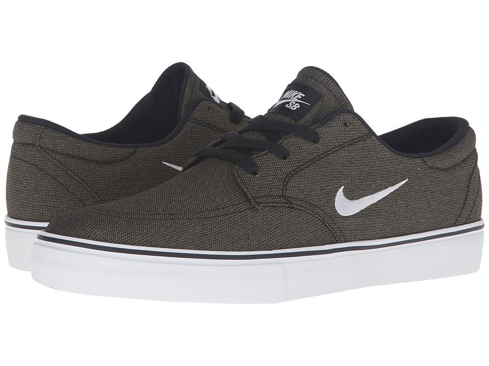 Nike SB - Clutch (Black/Pure Platinum/Medium Olive) Men's Skate Shoes