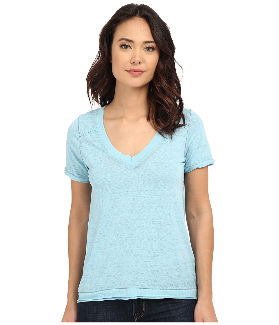 Free People - Pearl's Tee (Icy Blue) Women's T Shirt