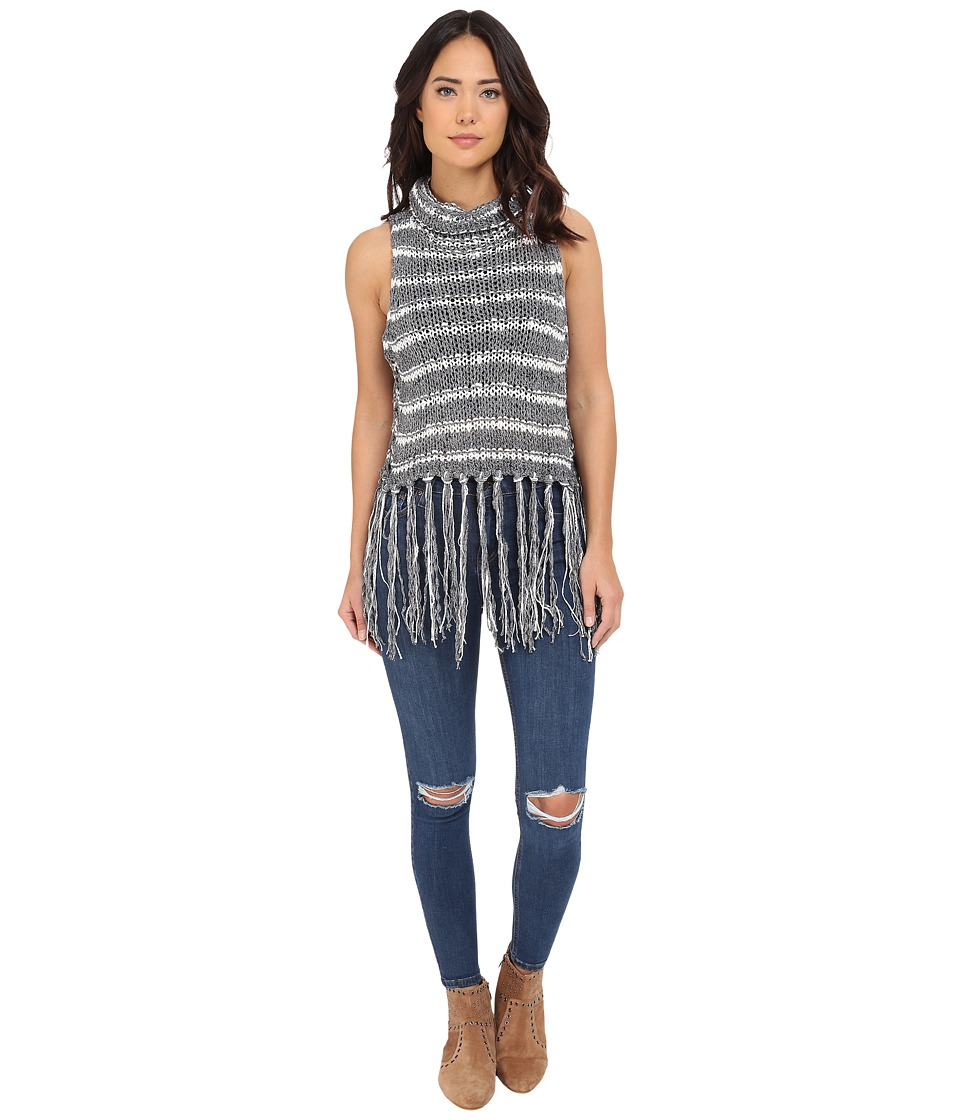 Free People - Folksong Frindge Vest (Midnight Combo) Women's Sweater