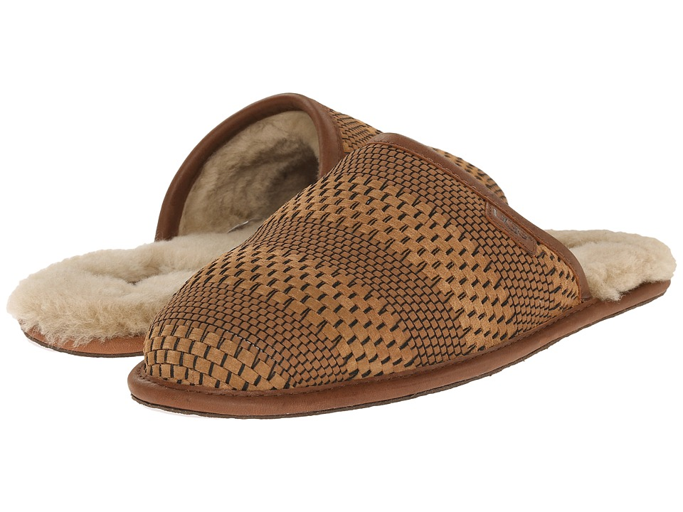UGG - Scuff Weave (Chestnut Suede) Men's Slippers