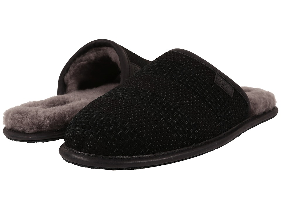 UGG - Scuff Weave (Black Suede) Men
