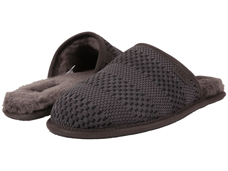 UGG - Scuff Weave (Charcoal Suede) Men's Slippers