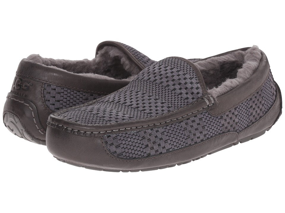 UGG - Ascot Weave (Charcoal Suede) Men