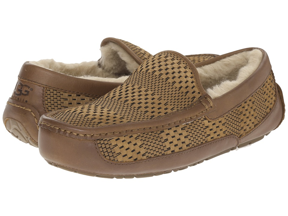 UGG - Ascot Weave (Chestnut Suede) Men's Slip on Shoes