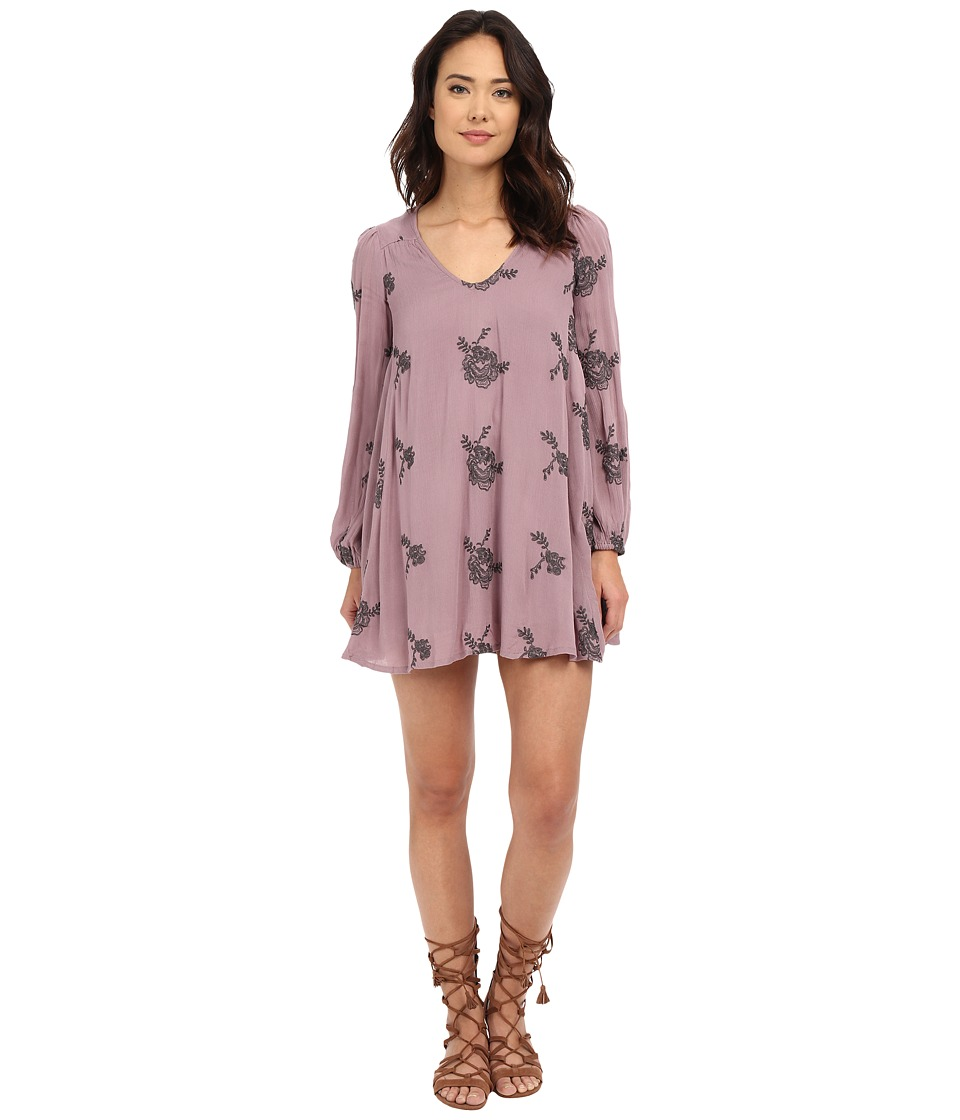 Free People - Emma's Embroidered Dress (Elderberry) Women's Dress