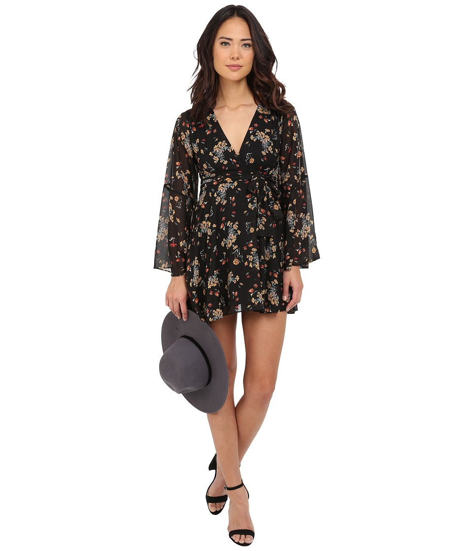 Free People - Lilou Chiffon Dress (Retro Black Combo) Women's Dress