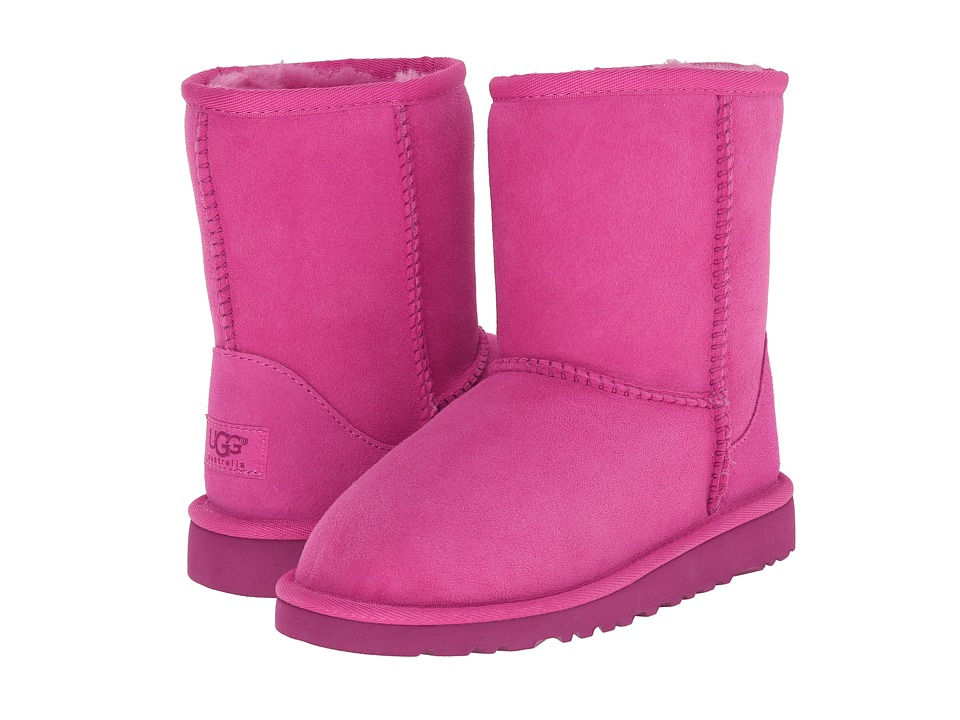 UGG Kids - Classic (Little Kid/Big Kid) (Furious Fuchsia Twinface) Kids Shoes