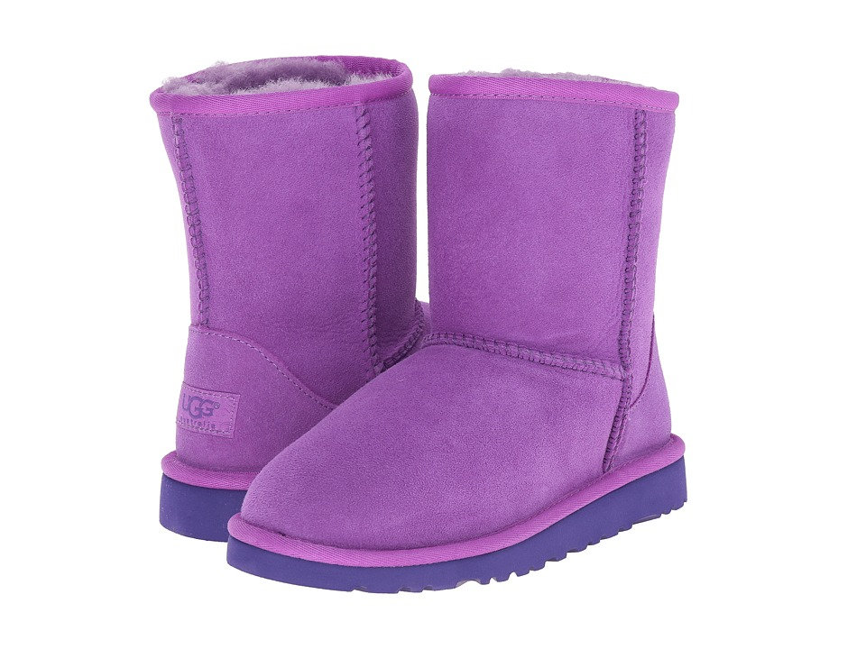 UGG Kids - Classic (Little Kid/Big Kid) (Crazy Plum Twinface) Kids Shoes