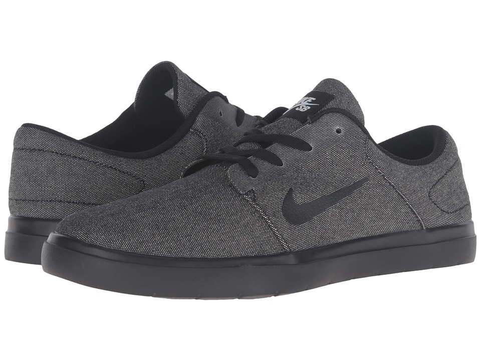 Nike SB - Portmore Ultralight Canvas (Black/Black) Men's Skate Shoes