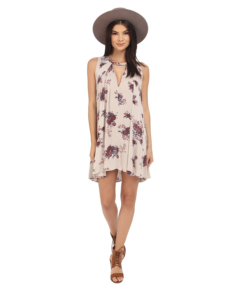 Free People - Tree Swing Dress (Ashed Stone Combo) Women