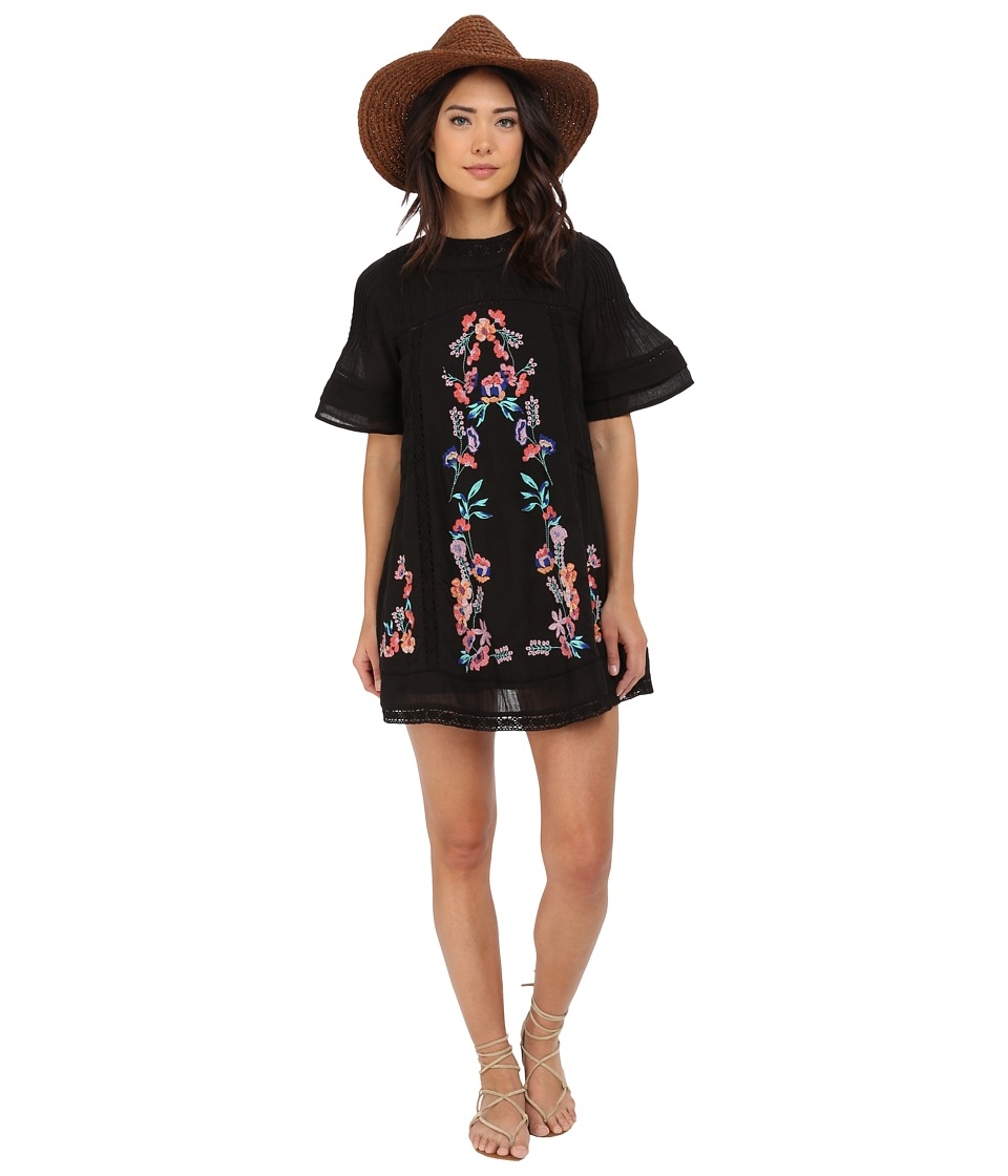Free People - Victorian Mini Dress (Black) Women's Dress