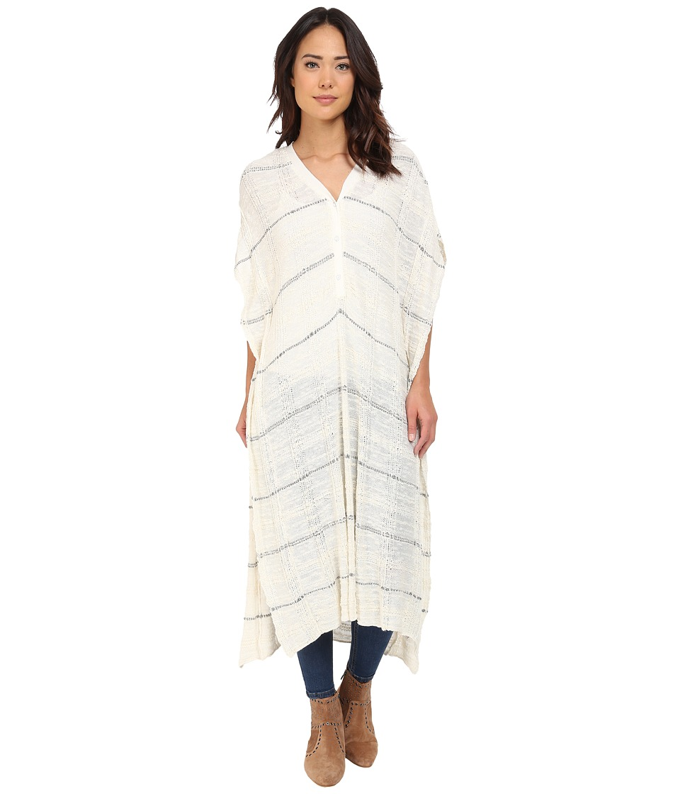 Free People - Whispering Wind Poncho (Cream Combo) Women's Sweater