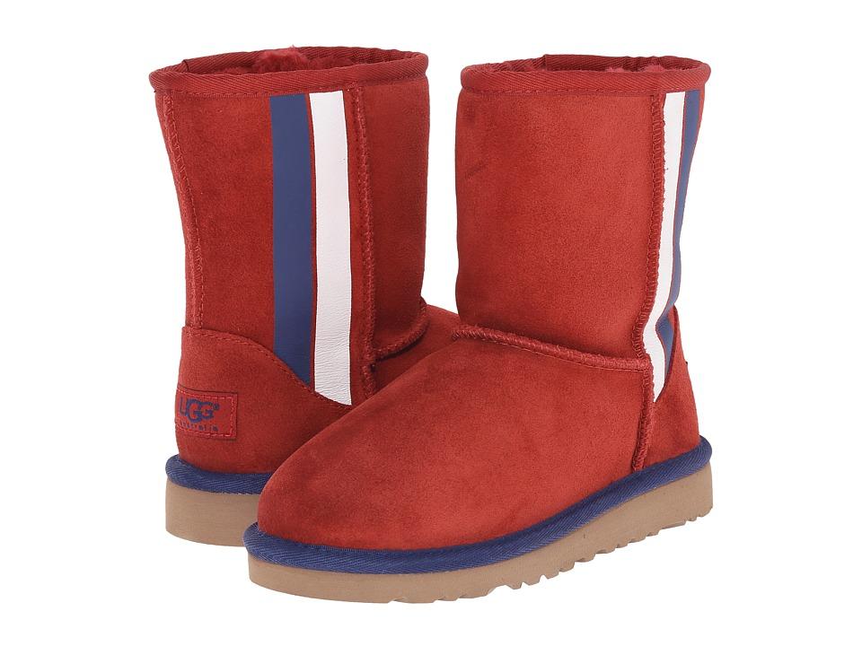 UGG Kids - Classic Short Prix (Little Kid/Big Kid) (Matador Red Suede) Kids Shoes