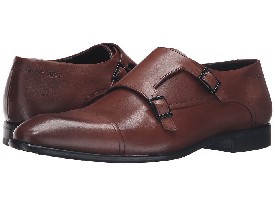 BOSS Hugo Boss - Dressapp Monk Buct by HUGO (Medium Brown) Men's Shoes