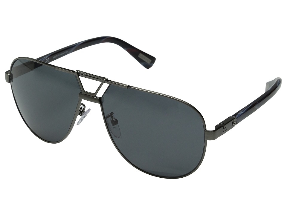 Lanvin - SLN043M (Gun Blue/Red Sriped/Grey) Fashion Sunglasses