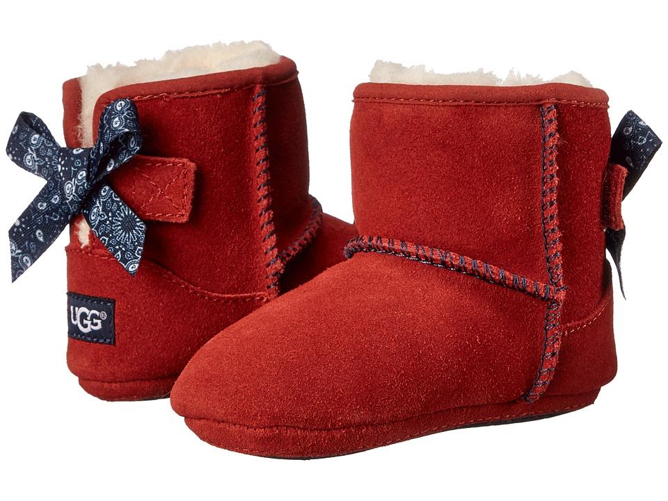 UGG Kids - Jesse Bow Bandana (Infant/Toddler) (Matador Red Suede) Girls Shoes