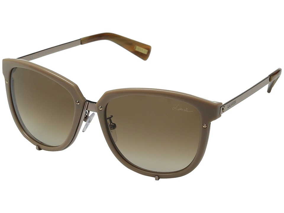 Lanvin - SLN046 (Rose Gold/Gradient Brown) Fashion Sunglasses