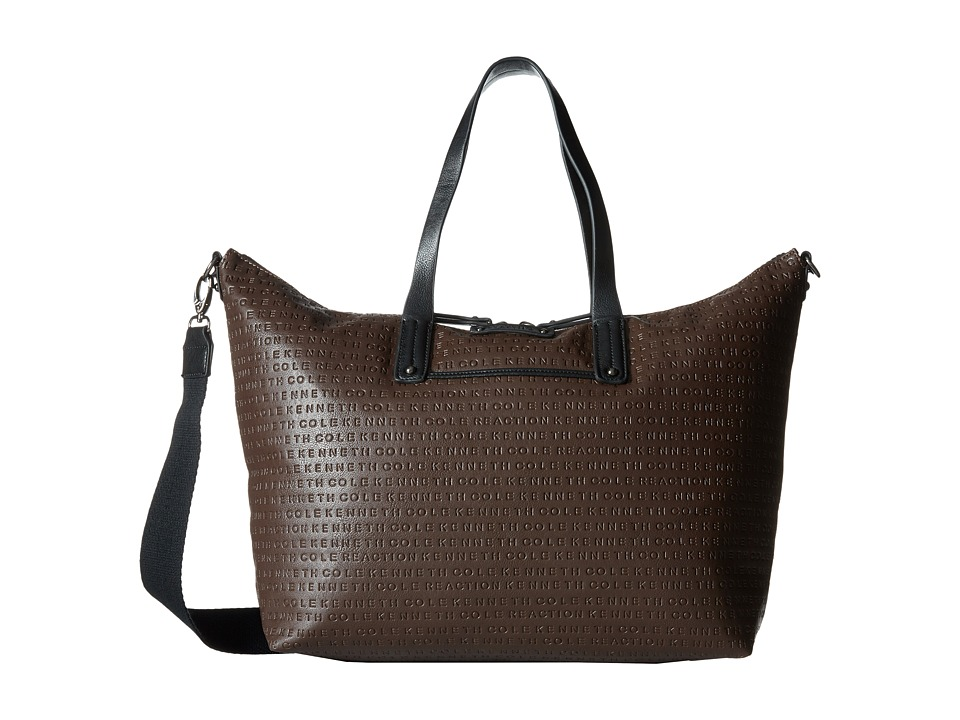 Kenneth Cole Reaction - Mars Mono Shopper (Chocolate/Black) Handbags