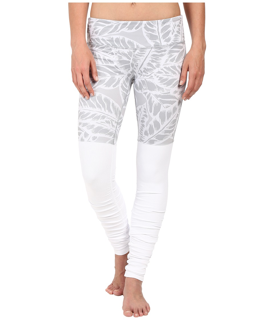ALO - Goddess Ribbed Legging (Palm Springs Neutral/White) Women's Workout